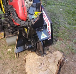 terminator stump grinder mini digger attachments