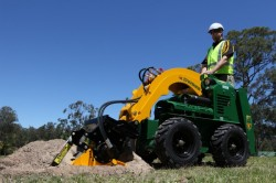8 Series Kanga Loader with trencher