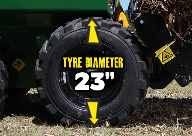 Kanga mini digger tyres