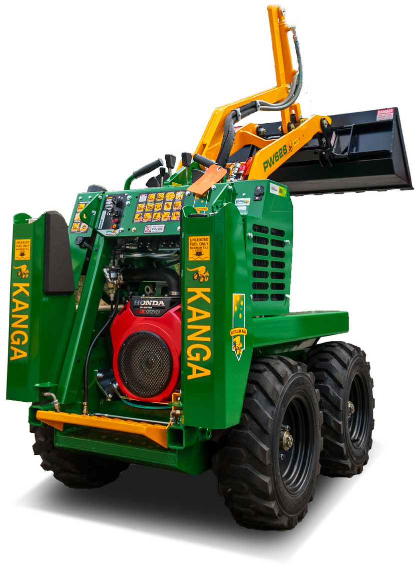 Mini Skid Steer : Kanga loader mini skid steer pw petrol and gpbucket