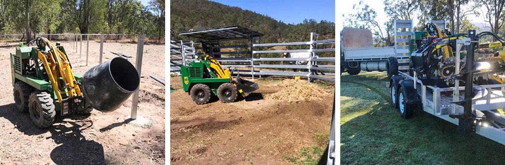 Kanga loader mini loader working in tight access