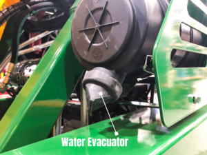 Water Evacuator on a Kanga Mini Loader