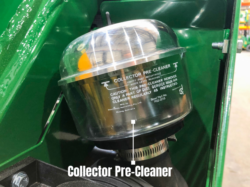 Airfilter Pre-Cleaner on a Kanga mini loader