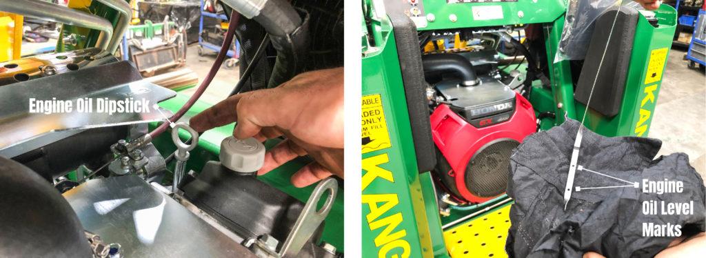 Engine Oil Dipstick on a Kanga Mini Loader