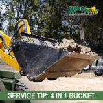 4in1 bucket on a Kanga Loader Mini Loader